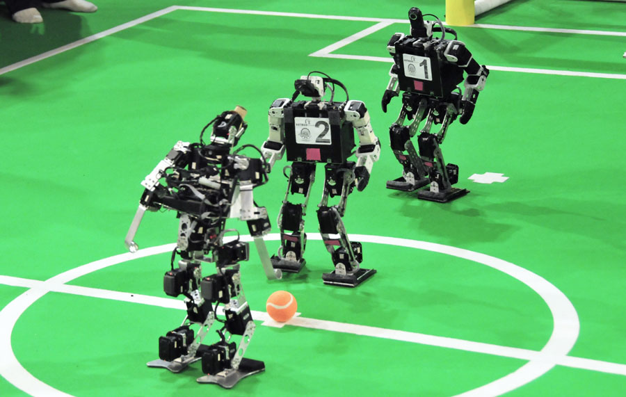 Robocup 2013 in Eindhoven. Photo credit: Ralf Roletschek via Wikimedia Commons.