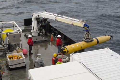AUV on Rachel Carson research vessel