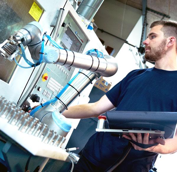 Nymann Teknik arm, from Universal Robots.