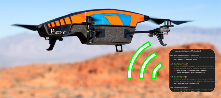 Up and flying with the AR Drone and ROS: Handling feedback