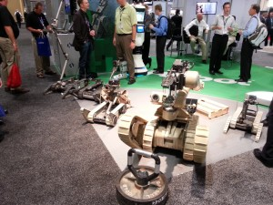 iRobot had their entire UGV lineup on display
