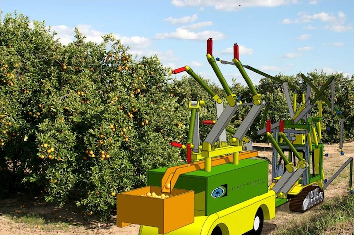Vision Robotics Corporation Orange Harvester