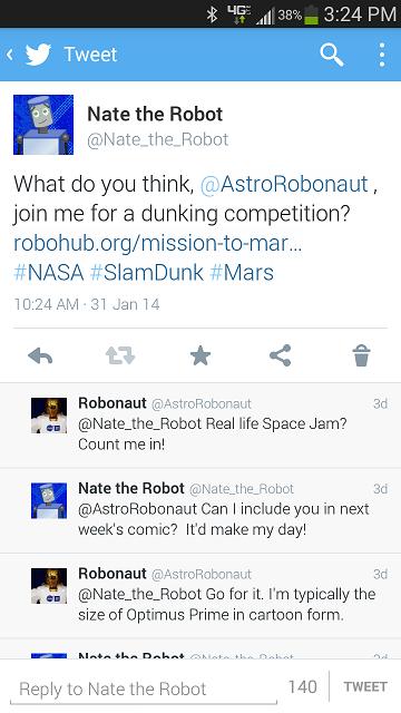Robonaut Twitter