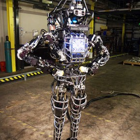 The Atlas robot, created by Bostron Dynamics and DARPA, was used by several teams in the DRC Trials. Source: DARPA