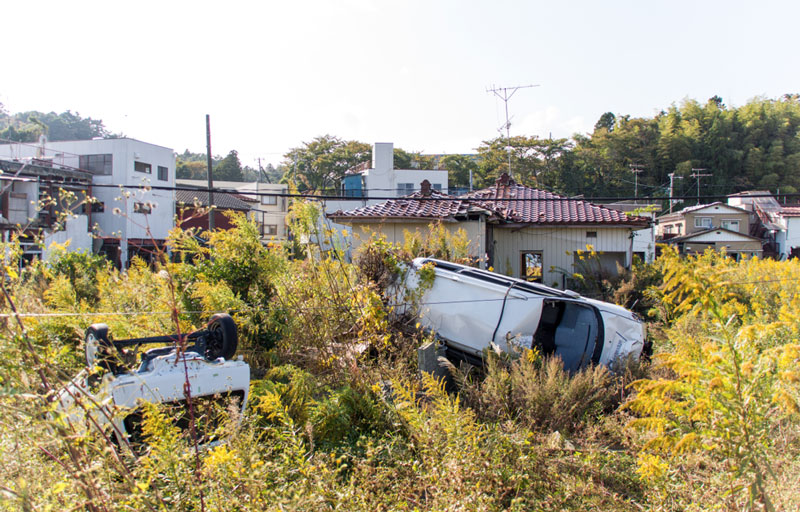Drone_Adventure_Fukushima_Car_Devastation
