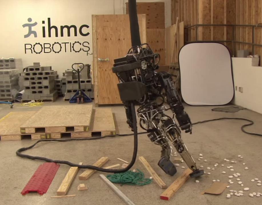 IHMC's ATLAS falls down. Next round, robots w
