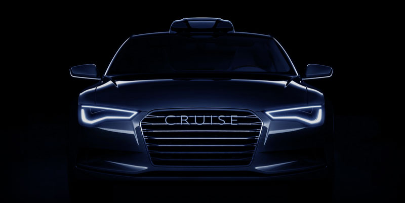 marketing image of car with Cruise unit mounted on top