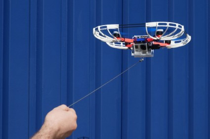 Fotokite tethered drone.