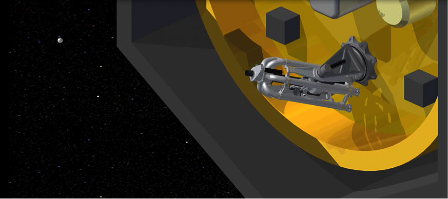 Figure 2: Honeybee Robotics' ShotGun system is designed to impact asteroids' fine regolith and boulders, providing valuable geotechnical data critical for resource extraction.