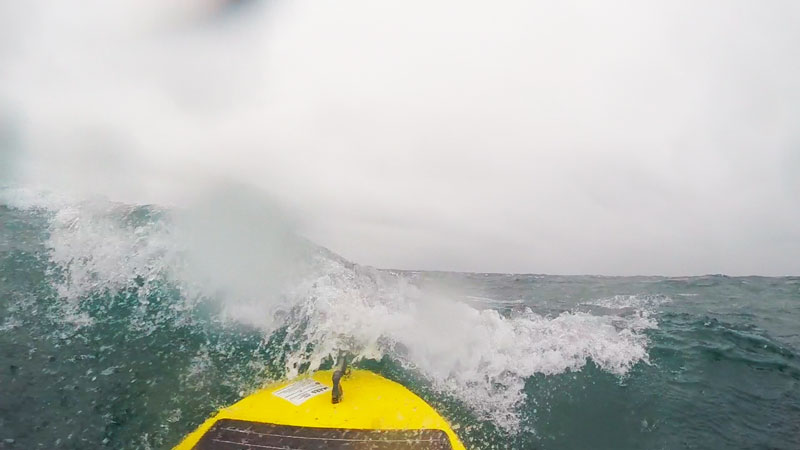 Waveglider riding rough seas. Source: National Oceanography Centre (NOC).