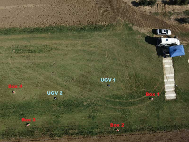 euRathlon 2015 Common Shared Data Set (CSDS) aerial outdoor task. Image acquired by the UAV at the maximum resolution during the high altitude flight. Photo credits: CATEC