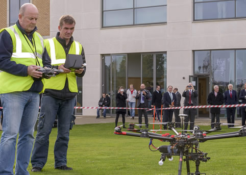 Members of the House of Lords visit Cranfield University's RPAS program during a fact-finding mission.
