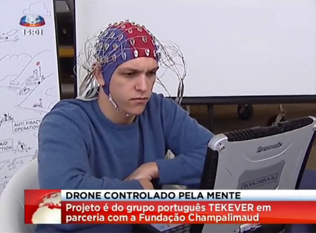 Researchers in Portugal are looking into how to control a drone using brainwaves. Source: BBC