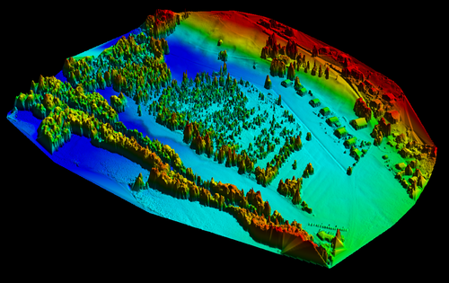 This 3D digital terrain model, created using drone-sourced images, allowed Pro Natura's team to accurately plan the height of each terrace and calculate from where to move existing peat to create these.