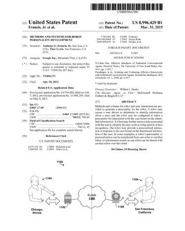 Google_Robot_personality_patent