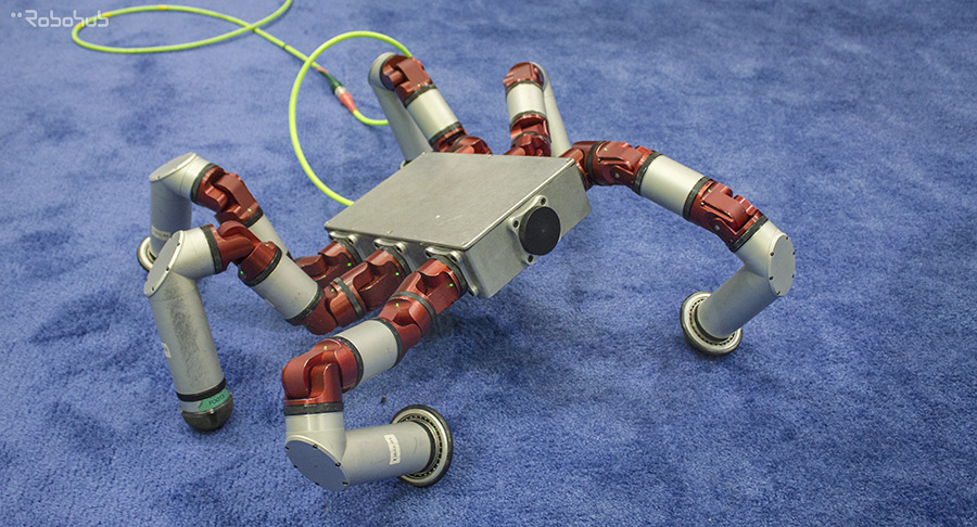 Hexapod build with modular field robotic actuators - HEBI Robotics