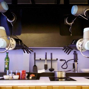 The robot chef in action. Source: Moley Robotics