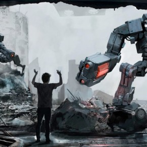 """Robot Overlords"" concept art by Paul Catling."