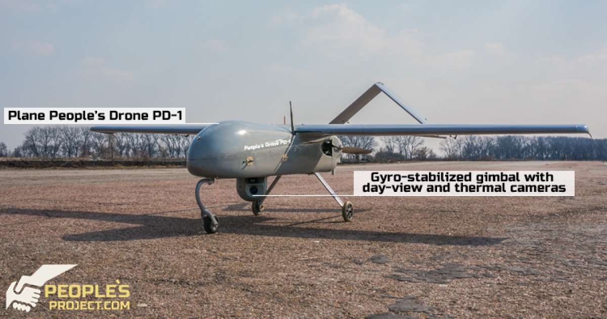 An ongoing campaign in Ukraine aims to crowdfund a drone (pictured) for the Ukrainian military. Credit: People's Drone, People's Project.