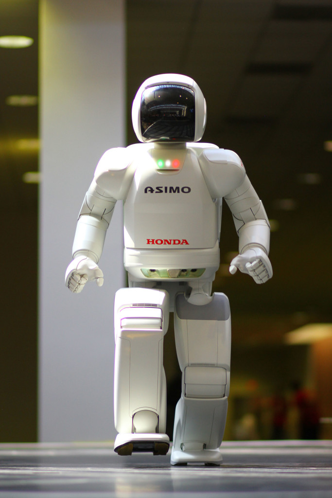 Asimo has rigid body parts. While it is an ingenious piece of hardware, its body is not useful for morphological computation.