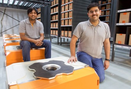 Co-founders of Grey Orange: Akash Gupta and Samay Kohli