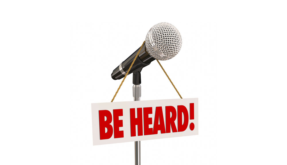 Be_Heard_Survey_opinion_microphone_feedback_voice_talk_speak