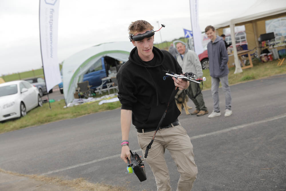 Dan Waring of Sussex FPV Racing and Drone Club.  Dan won the UK freestyle competition. Photo credit: David Stock.