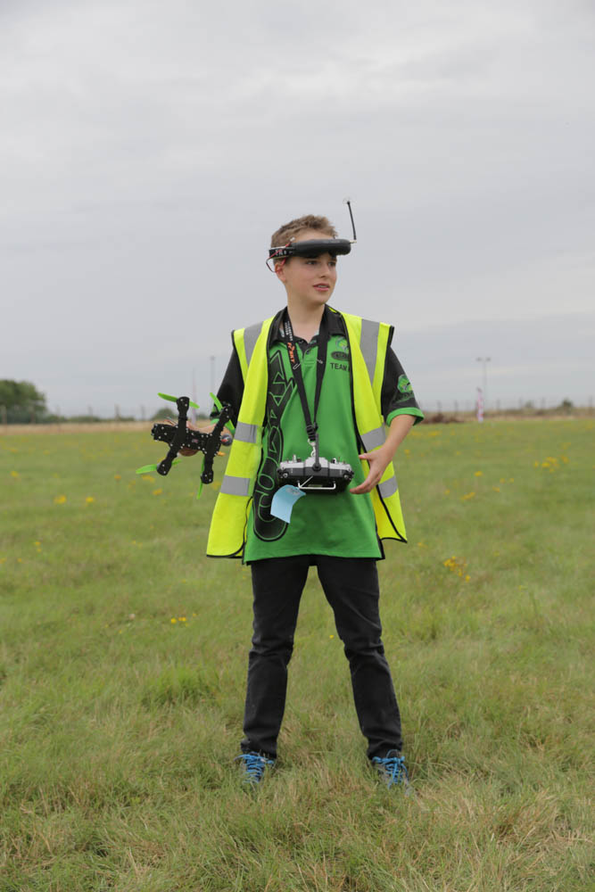 30th August 2015. First person view  (fpv),  UK Drone Racing Nationals in conjunction with the Britich model flying association  (BMFA) and the British FPV Racing League (BFPVRL) held at the BMFA Nationals 2015, RAF Barkston Heath, Lincolnshire, UK. Pictured: Luke Bannister. Photo credit: David Stock.