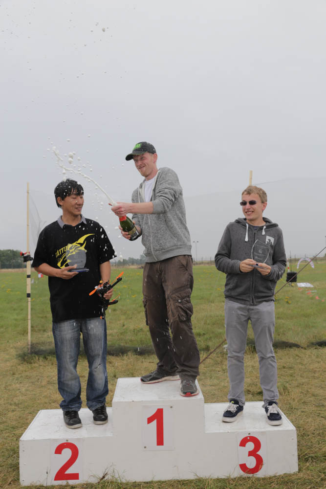 Finalists on the podium - 1st place - James Bowles aka Jab1a, 2nd place - Chi Lau and 3rd - Scott Collis. Photo credit: David Stock.