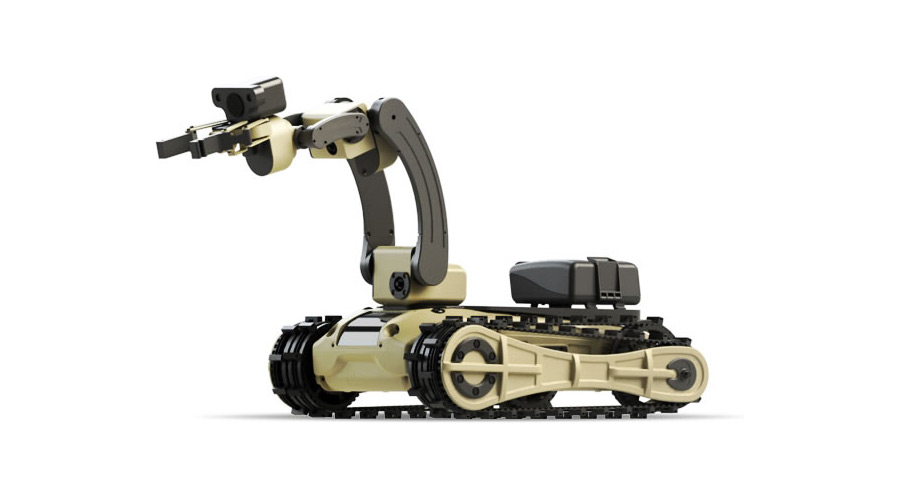 A Roboteam unmanned ground vehicle. Credit: Roboteam