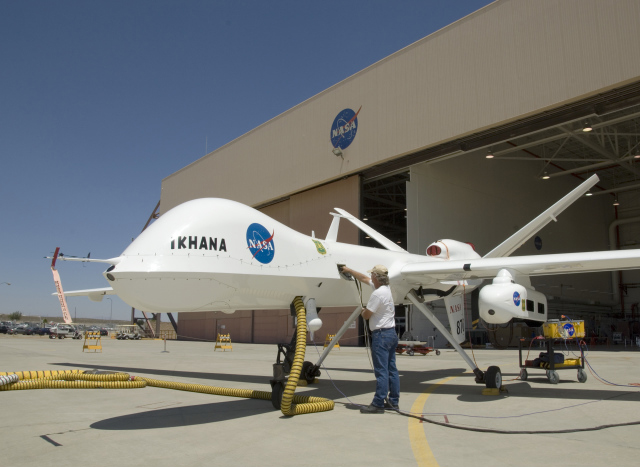 NASA's Ikhana drone, a modified General Atomics Reaper. Credit: NASA