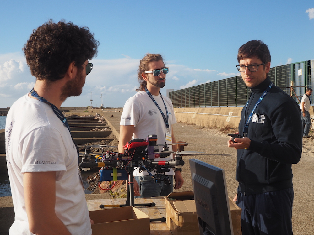 Team UNIFI ( University of Florence) getting ready for the aerial trial. Image: euRathlon
