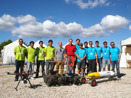 Winner of euRathlon 2015 Grand Challenge: Team Cobham (Land)+Universitat de Girona (Sea) + INESP/INESC TEC (Air). Photo credit: euRathlon