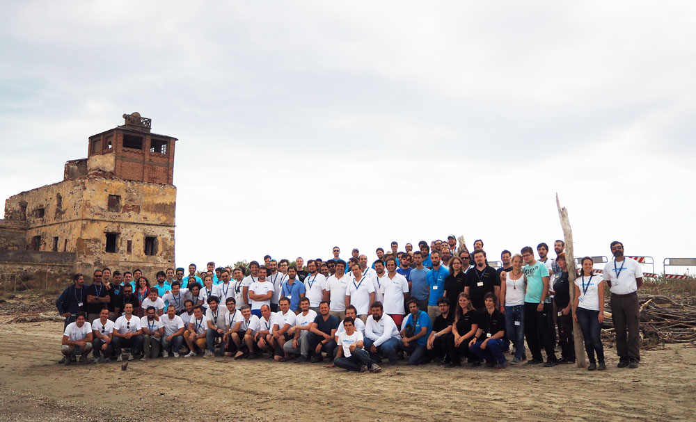 Group photo of euRathlon 2015 participants. Photo credit: euRathlon