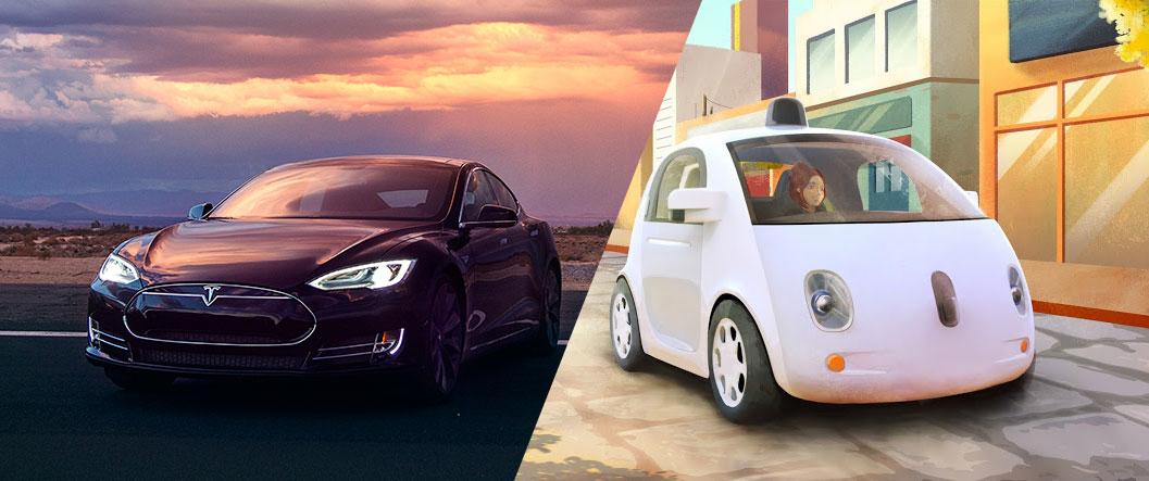 Google_Tesla_robocar_