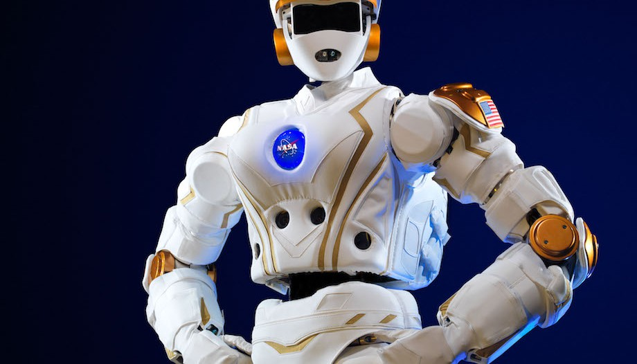 "NASA's ""Valkyrie"" robot is 6 feet tall and weighs 290 pounds. Researchers at MIT's Computer Science and Artificial Intelligence Laboratory will test and develop the bot for future space missions. Photo: NASA"