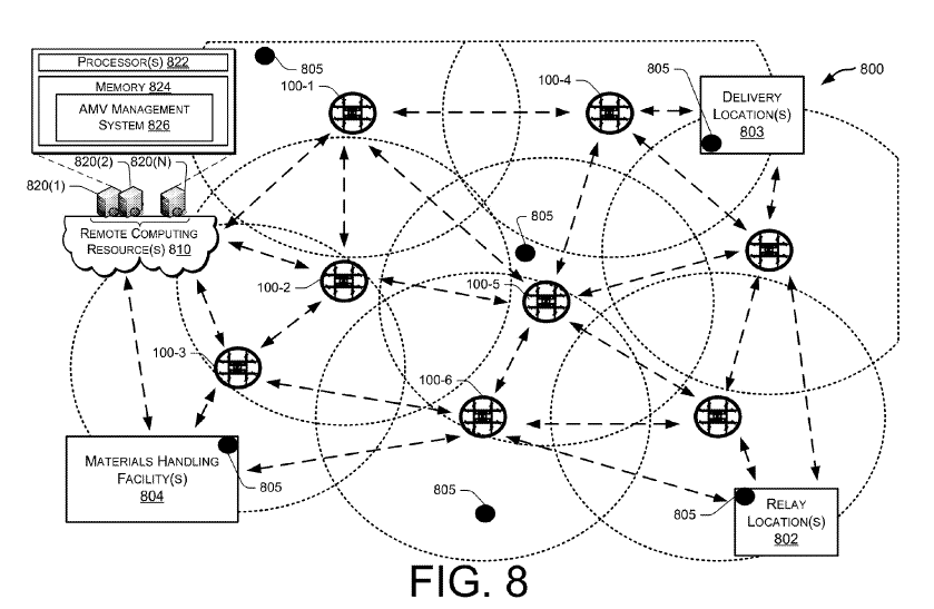 The U.S. Patent and Trademark Office published a patent filed by Amazon last year that shows a design for an obstacle avoidance system for the company's proposed Prime Air delivery drones.