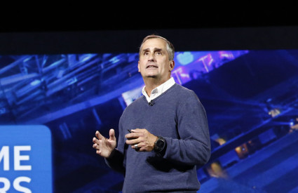 Intel CEO Brian Krzanich during his keynote at CES 2016. Source: Consumer Technology Association