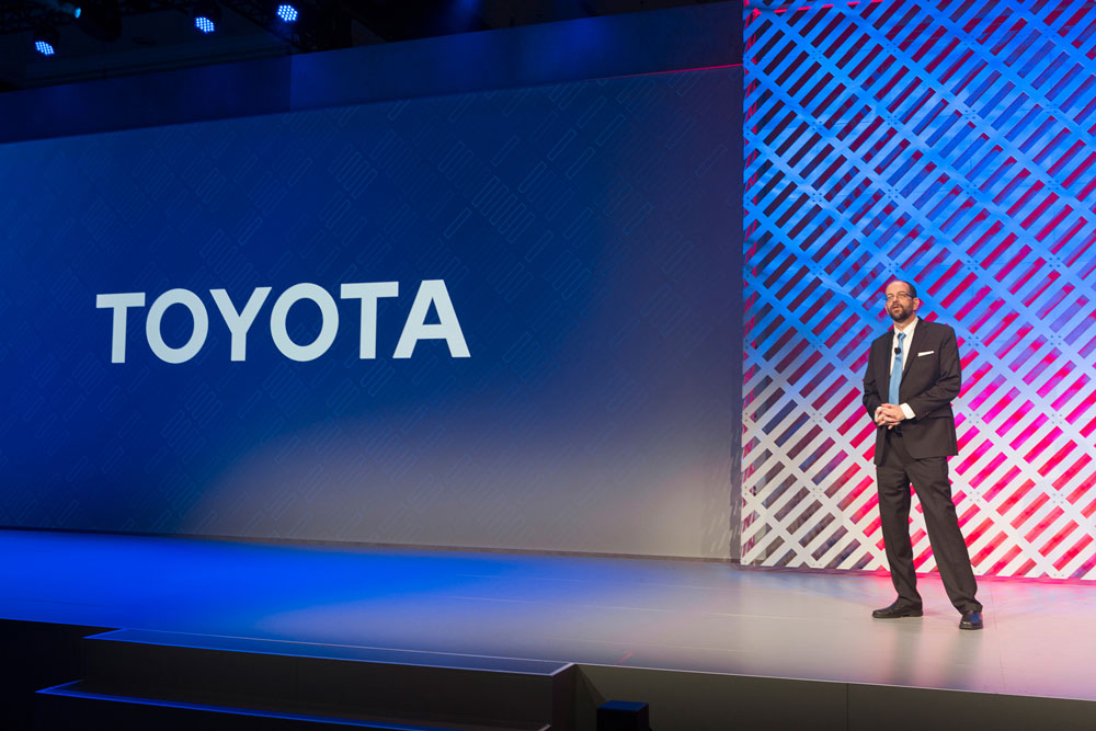 Toyota Executive Technical Advisor and Chief Executive Officer of Toyota Research Institute (TRI) Dr. Gill Pratt speaks during a press conference at the Consumer Electronics Show (CES) 2016 in Las Vegas, Jan. 5, 2016. Photo: Kathryn Rapier