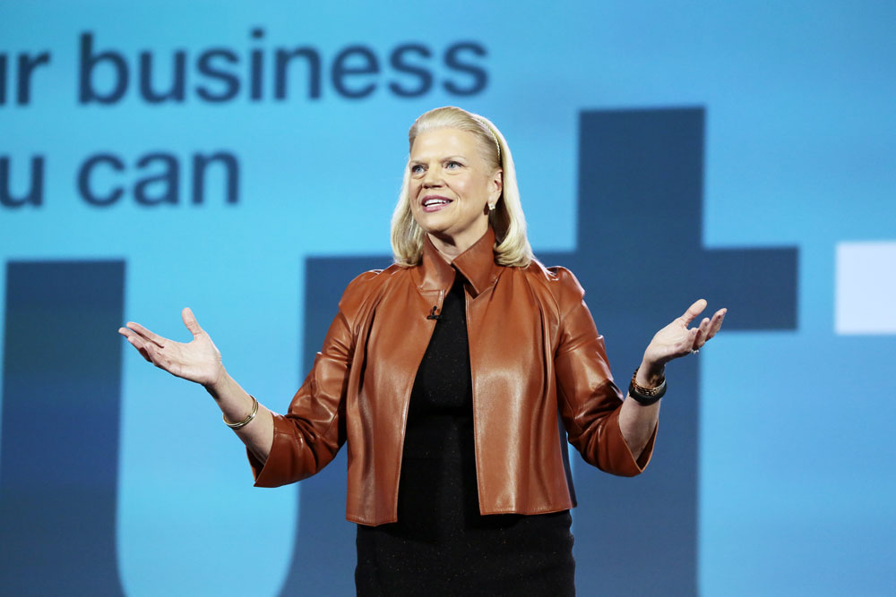 IBM CEO Ginny Rometty onstage at CES 2016. Source: Consumer Technology Association