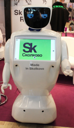 A Skolkovo startup, Promobot makes retail robots with conversational capabilities.