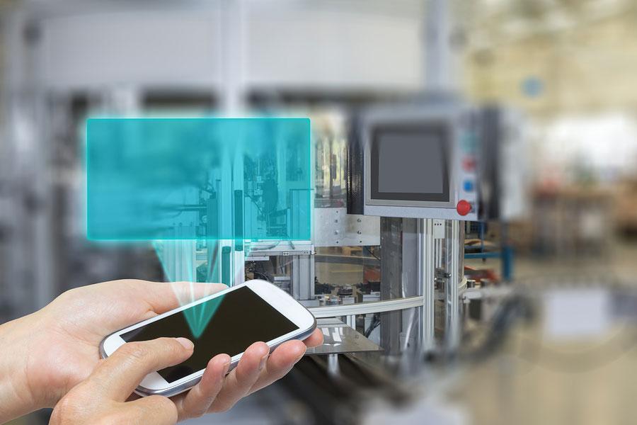 Internet_of_Things_Smart_phone_IoT_conveyor_Belt_industry_factory