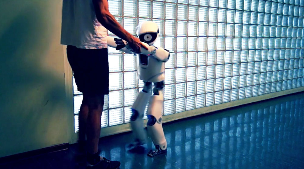 Myon walking with human support. Source: Neurorobotics Research Lab