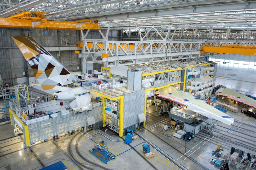 Airbus assembly floor. Source: Airbus Group