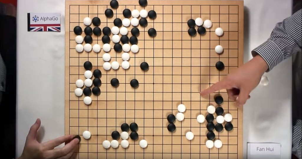 AlphaGo playing challenger. Source: Google DeepMind