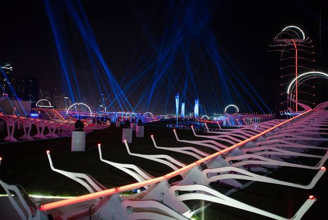 The World Drone Prix took place in Dubai last week. Image via: Arabian Business.