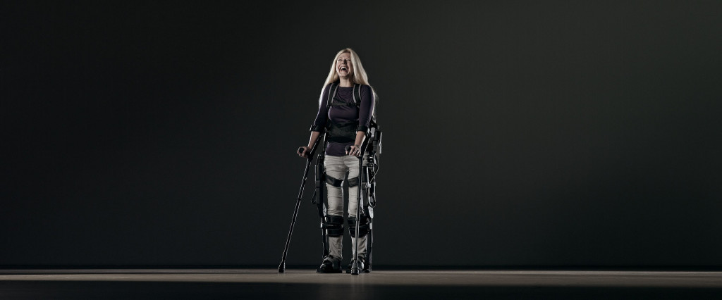 Ekso test pilot and ambassador. Credit Ekso Bionics/Flickr.