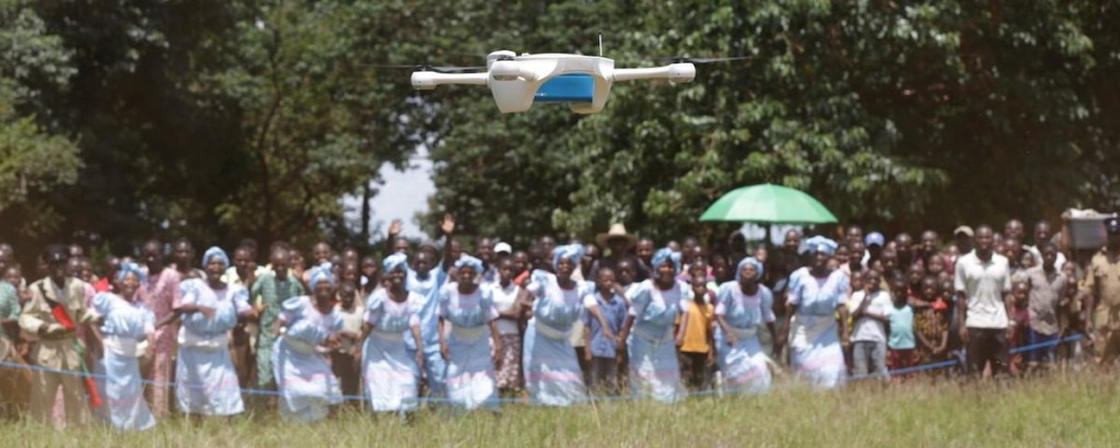 Local residents look on at the demonstration of the drones flying in Lilongwe. Photo courtesy of UNICEF/Bodole