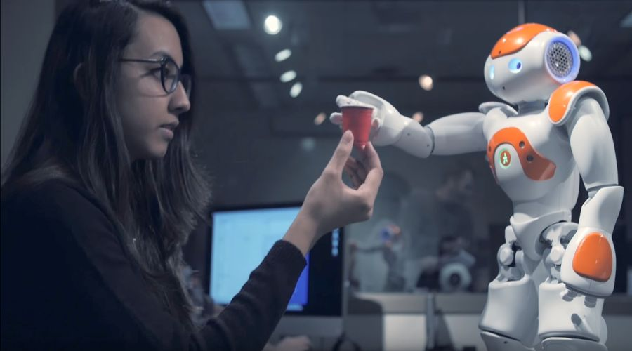 Nao robot gripping cup. Source: UW-Madison Science Narratives/YouTube