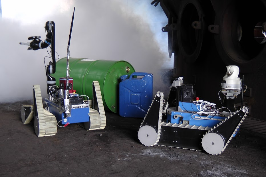 Ground robots used in survey and rescue missions by TRADR. Photo credit: TRADR.